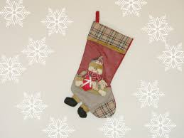 snowman personalised christmas stocking monogrammed 3d