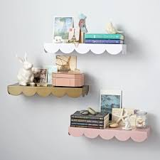 Wall Shelves Simple Scallop Wall Shelf The Land Of Nod