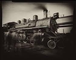 train photos with pinhole camera