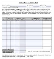 Driver Log Sheet Template Printable Log Sheet Template Free Daily Medication Schedule