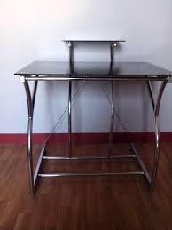 bureau en verre noir petit bureau en verre achetez informatique occasion annonce vente