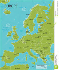 Africa Map With Capitals by Map Of Europe Stock Vector Image 56142518