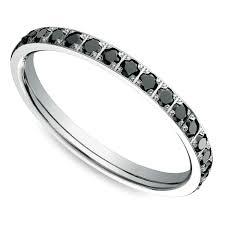 black diamond band pave black diamond eternity ring in white gold
