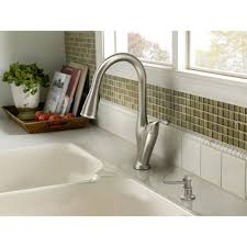 moen benton pulldown kitchen faucet in spot resist stainless