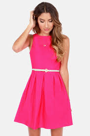cute fuchsia dress pink dress sleeveless dress 42 00