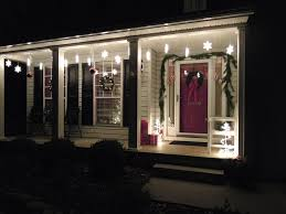 outdoor hanging snowflake lights front porch christmas light ideas outdoor snowflake lights home