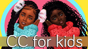 the sims 4 natural curly hair the sims 4 cc for kids full cc links updated youtube