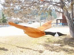 large wooden flying bird mobile canada goose wood by woodacooda