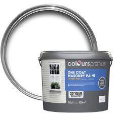 colours premium white textured matt masonry paint 10l