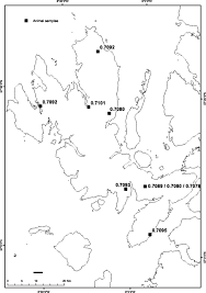Blank Map Of Tectonic Plates by Isotope Domain Mapping Of 87sr 86sr Biosphere Variation On The