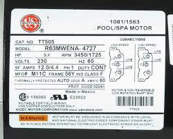 mtraos 187563 tt505 spa pump motor 56fr 2 spd 12a 230v us motors