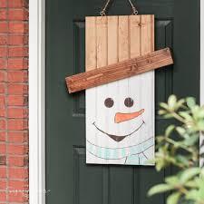 diy rustic snowman door hanger the turquoise home