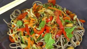 What Is A Main Dish - veggie asian soba noodles with peanut sauce healthy recipe