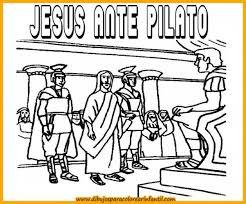 imagenes de jesus ante pilato semanadibujos de semana santa jesus ante pilato para colorear