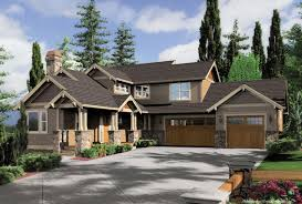 front sloping lot house plans homely idea craftsman house plans sloping lot 15 modern arts plan