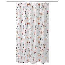 ikea rosenfibbla shower curtain densely woven polyester fabric with water repellent coating