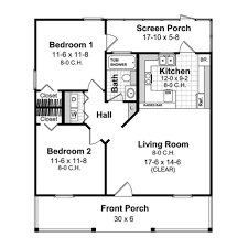 cottage style house plan 2 beds 1 00 baths 800 sq ft plan 21 213