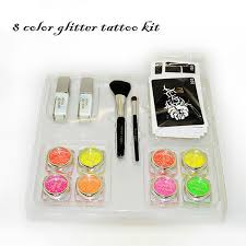 getbetterlife 8 tattoo ink powder 2 cosmetic brush 2 body glue 20