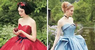 disney princess wedding dresses disney collabs with japanese wedding company to make princess