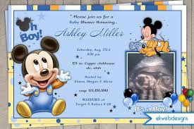 mickey mouse baby shower invitations disney baby mickey pluto baby shower invitations