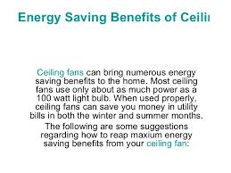 benefits of ceiling fans energy saving benefits of ceiling fans