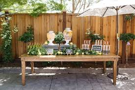 Baby Shower Outdoor Ideas - kara u0027s party ideas beverage table from a rustic lemon themed baby