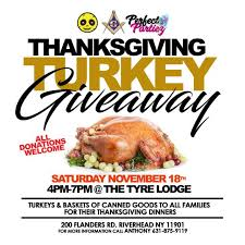 thanksgiving giveaway turkeys baskets of food will be handed out