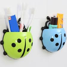Child Bathroom Accessories by Cute Ladybug Insect Toothbrush Wall Suction Bathroom Sets Cartoon
