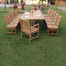 Patio Dining Furniture Sets - shop anderson teak valencia 15 piece unfinished teak patio dining