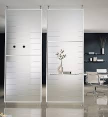 modern room divider with timber glass and chrome panel also white