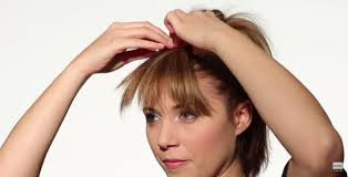 how to make fake bangs hairstyle in 6 easy steps rewardme