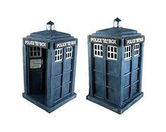 doctor who tardis aquarium ornament w bonus yellow dalek 50th