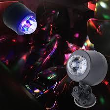 sound activated dj lights 5v 6w colorful car decoration dj light sound activated rotating