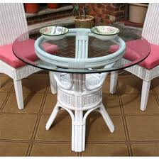 wicker dining table with glass top rattan dining tables