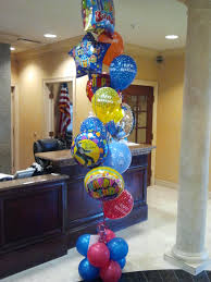 helium filled balloons delivered bouquets bakery palm balloon event decorating ideas