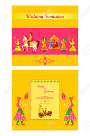 Best Indian Wedding Cards Vector Illustration Of Indian Wedding Invitation Card Royalty Free
