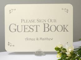 ivory wedding guest book vintage heart wedding guest book signage a4