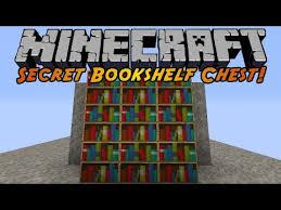 Minecraft Secret Bookshelf Door Minecraft Secret Bookshelf Chest Youtube