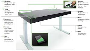 Standing Or Sitting Desk Office Workout Smart Desk Shifts Between Sitting Standing