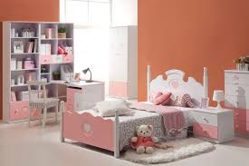 bedroom kids bedroom furniture sets in peach with four posted bed