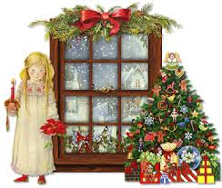 Animated Christmas Decorations Gif by Winter Landscapes And Scenic Wintery Moving Snow Animations