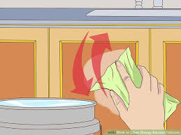 How To Clean Greasy Kitchen Cabinets Wood 3 Ways To Clean Greasy Kitchen Cabinets Wikihow