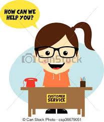 Customer Service Desk Vector Illustration Of Customer Service Desk Cartoon Character