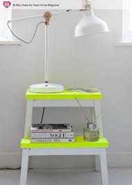 Yellow Side Table Ikea White U0026 Neon Side Table Furniture Pinterest