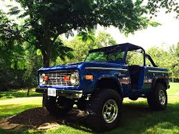 blue bronco car ford bronco under the shady tree love this dark blue on the early