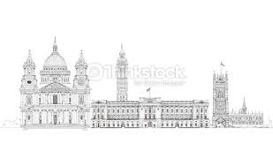 famous buildings of the world london sketch collection stock