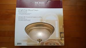home decorators collection keswick 2 light brushed brass flush
