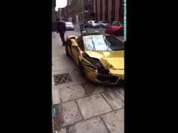 guy crashes lambo in liverpool youtube