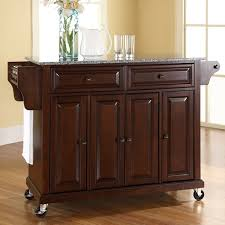 kitchen cart and island darby home co pottstown kitchen cart island with granite top