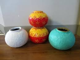 Creative Vases Ideas Diy How To Make Round Pots Vases Using Paper U0026 Plaster Of